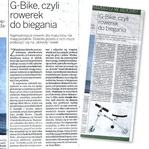 G-Bike, czyli rowerek do biegania | Magazyn Rodzinny | Polska | 9 maja 2009