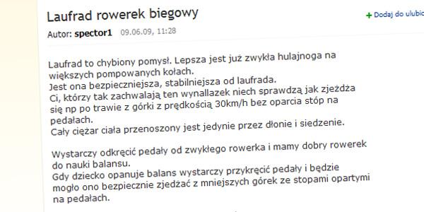 "Forum Gazety ""Laufrad rowerek biegowy"""
