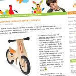 Rowerek bez pedałów i pędząca Gabrysia – Krowi Blog