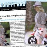 Syn Cate Blanchett na rowerku bez pedałów FirstBIKE