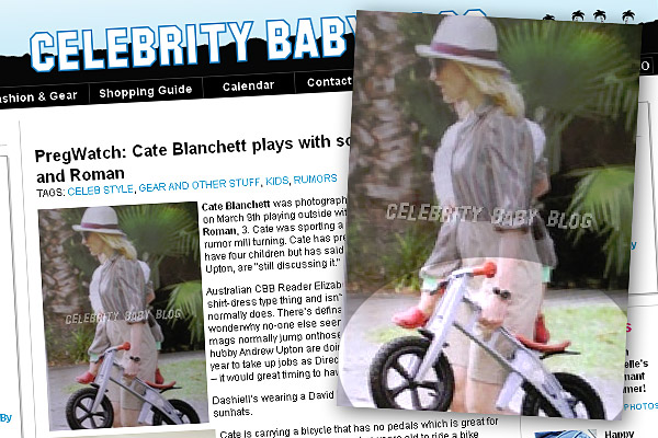 """Cate Blanchett plays with sons Dashiell and Roman"" Celebrity Baby"