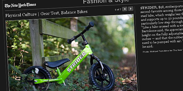 The New York Times - Physical Culture | Gear Test, Balance Bikes
