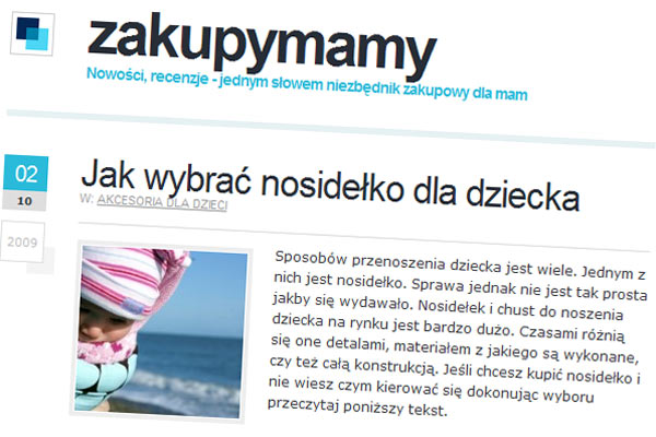 Zakupymamy.pl - jak wybrac nosidło