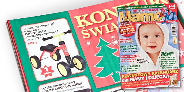 Puky Wutsch - Konkurs Świąteczny - Miesięcznik Mamo to ja nr 12 grudzień 2009