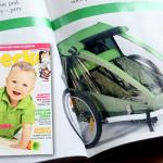 """""""Rower? To nas kręci!"""" miesięcznik Dziecko nr 6 – przyczepka rowerowa Croozer – cześć 1"""