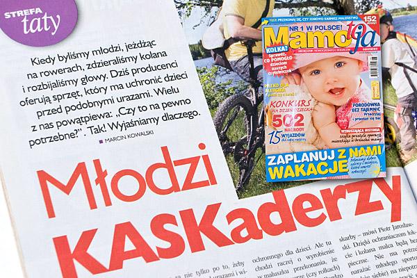 """Miesięcznik Mamo to ja nr 6 """"Mali KASKaderzy"""" Marcin Kowalski"""