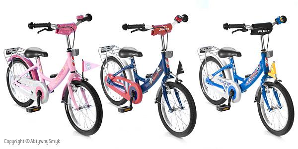 Rower (z pedałami) Puky ZL 16 Alu w kolorach: granatowy, niebieski i jasnoróżowy.