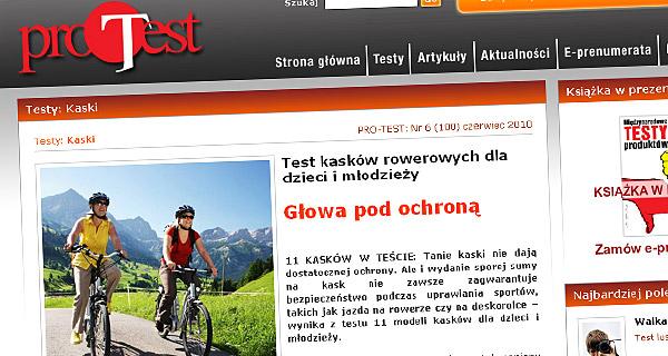 Głowa pod ochroną - Test kasków rowerowych dla dzieci i młodzieży