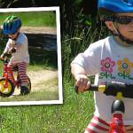 Klara na rowerku biegowym Puky LR M