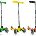 Nowość – hulajnoga trójkołowa Mini Micro w kolorze pomarańczowym, zielonym albo żółtym