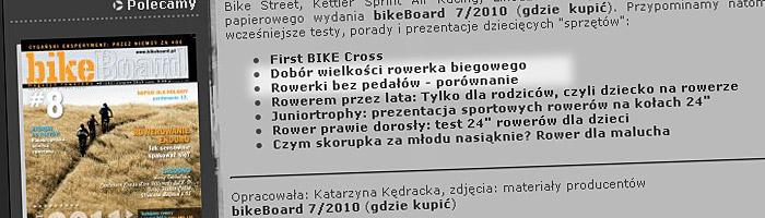 Bez bocznych kółek: rowerki biegowe | źródło: bikeboard.pl
