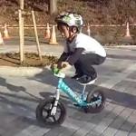 Rowerek biegowy Strider w akcji