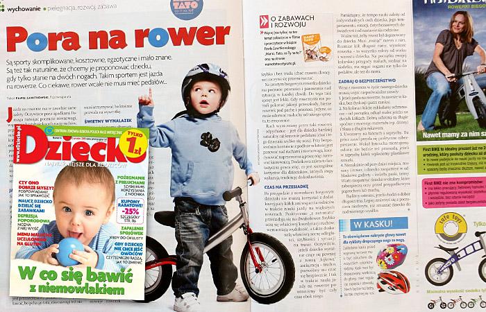 Dziecko - Pora na rowerek biegowy