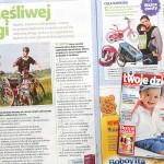 Szczęśliwej drogi – miesięcznik Twoje dziecko – przyczepka rowerowa Croozer