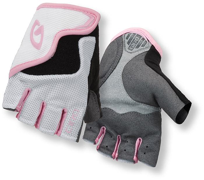 Rękawiczki rowerowe Giro Bravo JR biało-różowe