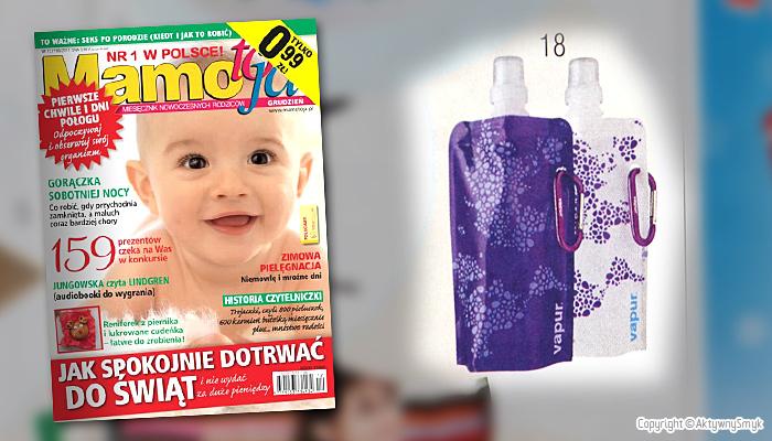 Butelka VAPUR | Prezent dla dorosłych - miesięcznik Mamo to ja nr 12 (grudzień 2011)