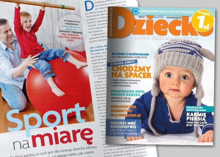 Paweł Zawitkowski - Zdrowie - Sport na miarę - miesięcznik Dziecko nr 1 (styczeń 2012)