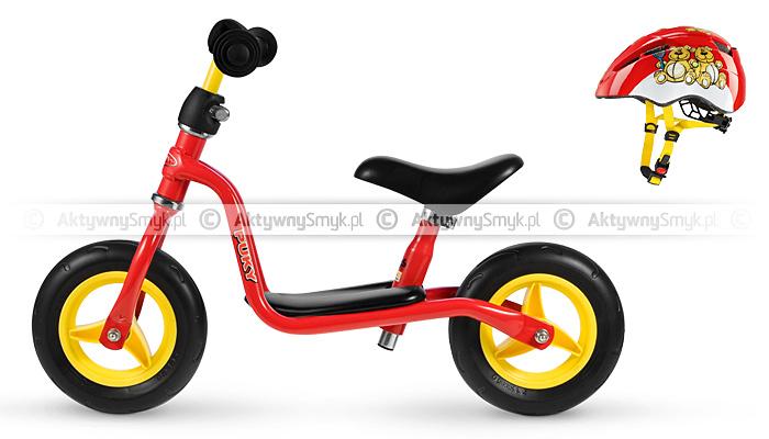 Rowerek biegowy Puky LR M czerwony + kask rowerowy Uvex Kid 2 Bears