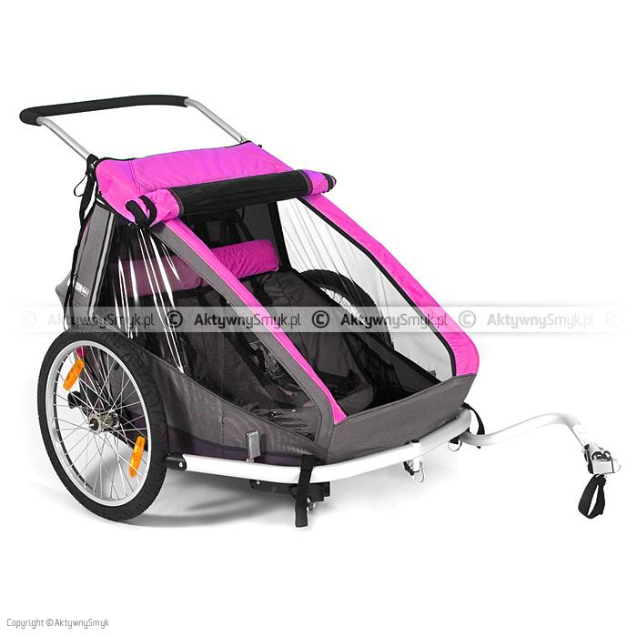 Przyczepka rowerowa Croozer Kid for 2 różowa