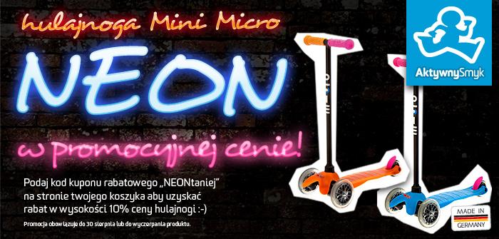 Hulajnoga Mini Micro Neon w promocyjnej cenie!