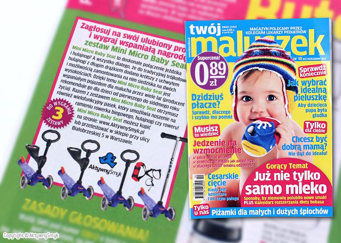 Magazyn - Twoj Maluszek do wygrania jezdzik i hulajnoga Mini Micro Baby Seat