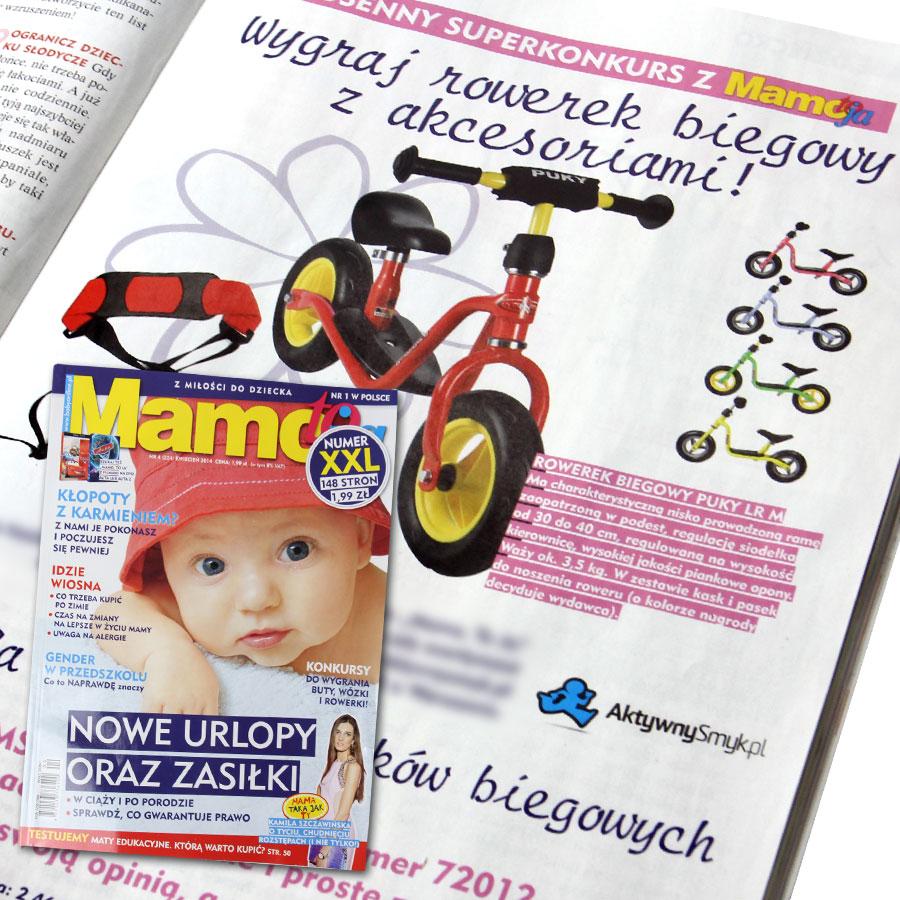 Konkurs miesięcznika Mamo to ja i AktywnySmyk - do wygrania rowerek biegowy Puky LR M + akcesoria