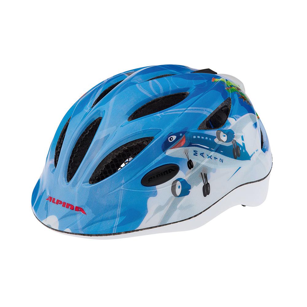"""Niebiesko-biały kask rowerowy Alpina Gamma Flash """"Planes"""""""
