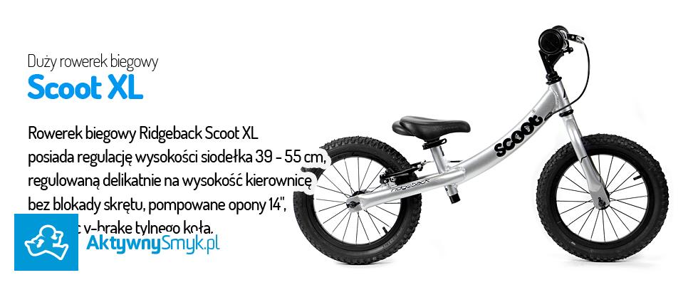 Duży rowerek biegowy