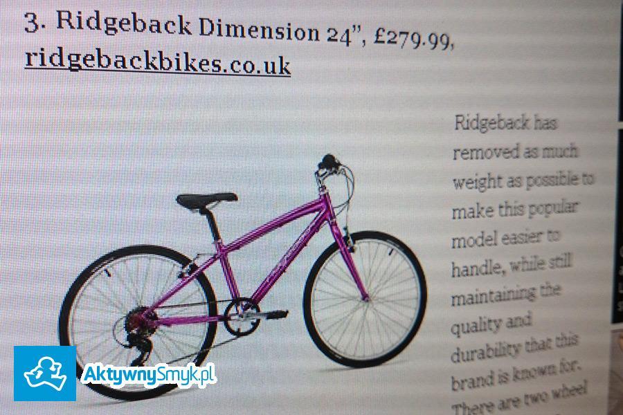 Lekki rower Ridgeback Dimension na kołach 24 cali