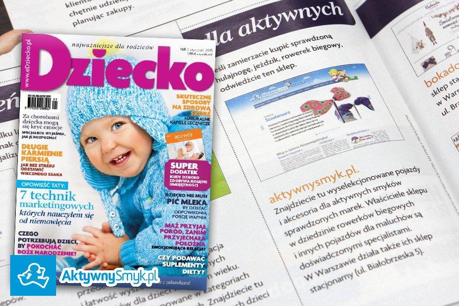 Miesięcznik DZIECKO o sklepie AktywnySmyk.pl