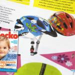 Cykliście na start! – Bezpieczeństwo (miesięcznik Dziecko nr 5 maj 2015) kaski Uvex i Abus