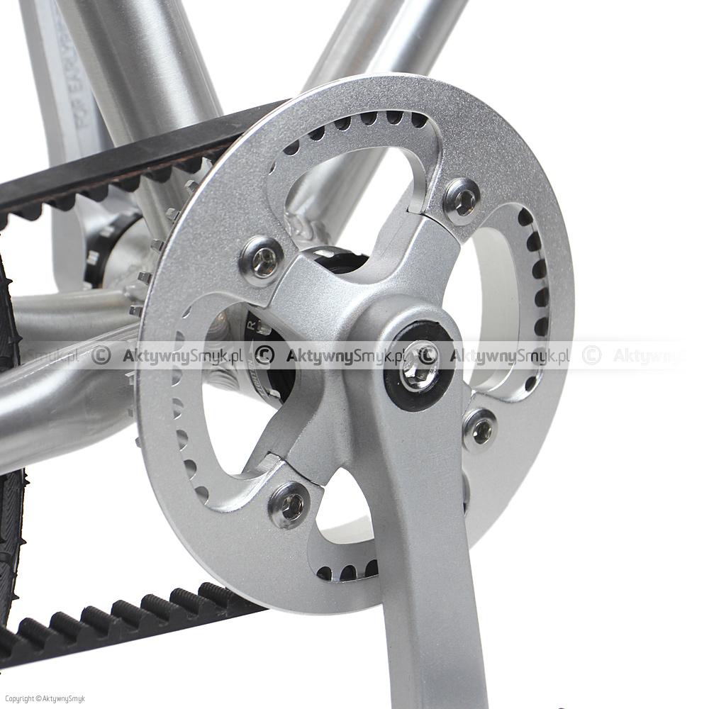 Nowa korba i przednia zębatka w rowerze ER Belter
