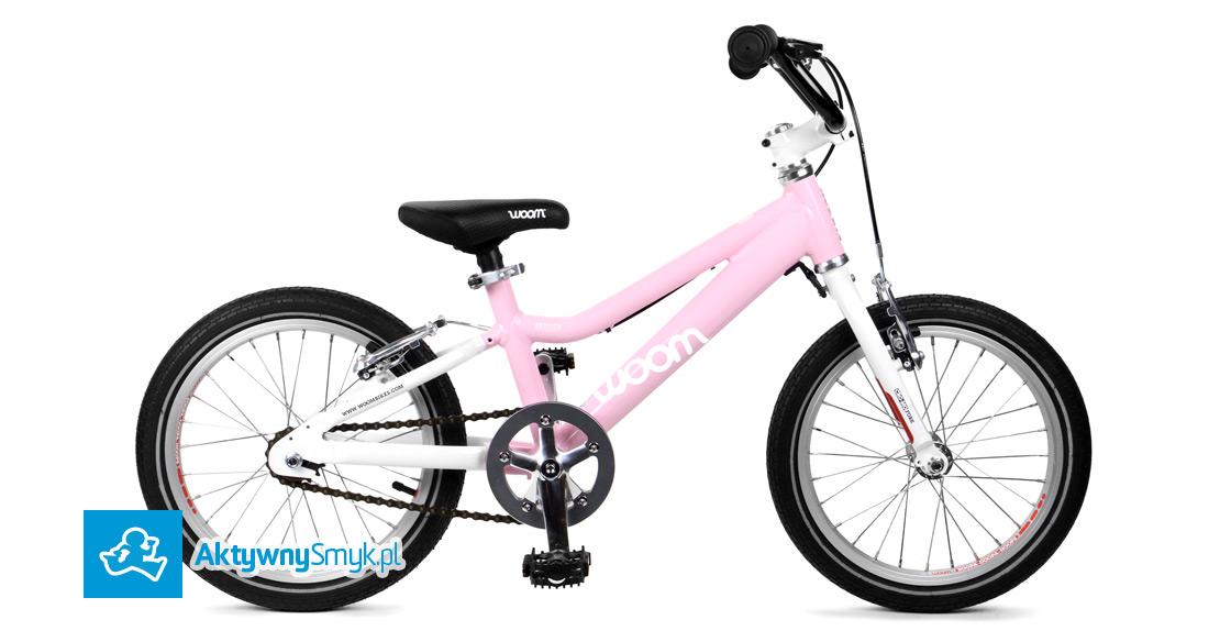 Lekki różowy rower dla ponad 4 latki (wzrost ponad 105 cm) - Woom 3 - AktywnySmyk Warszawa Białobrzeska 5