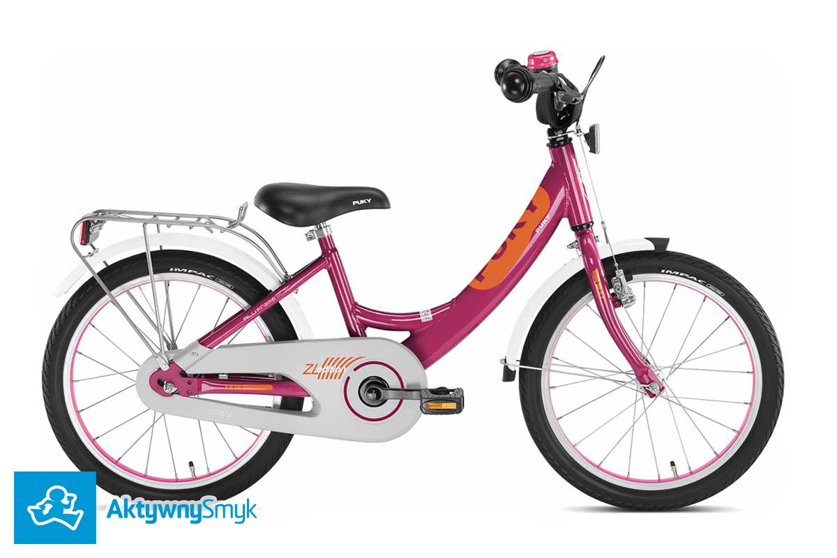Jagodowy rower Puky o kole 16 lub 18 cali - seria Puky ZL 16 lub ZL 18