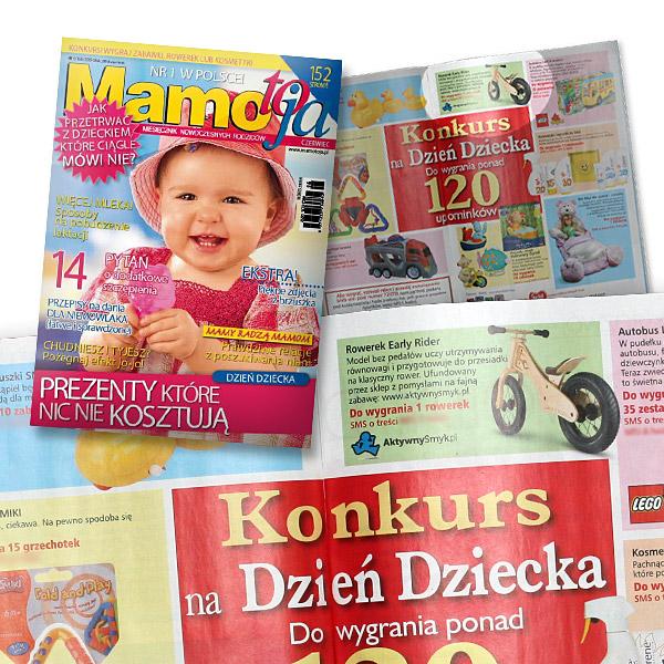 Konkurs w Mamo To Ja 06/09. Nagroda ufundowana przez AktywnySmyk