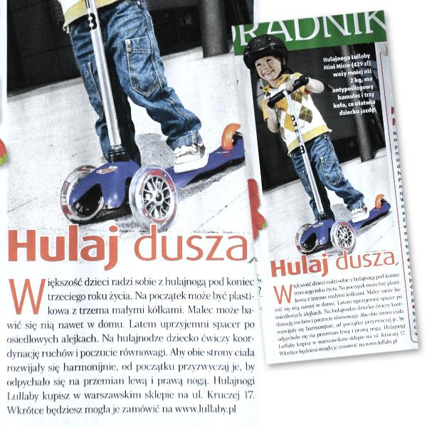 Tekst PR'owy w miesięczniku Rodzice, nr 06, czerwiec 2009