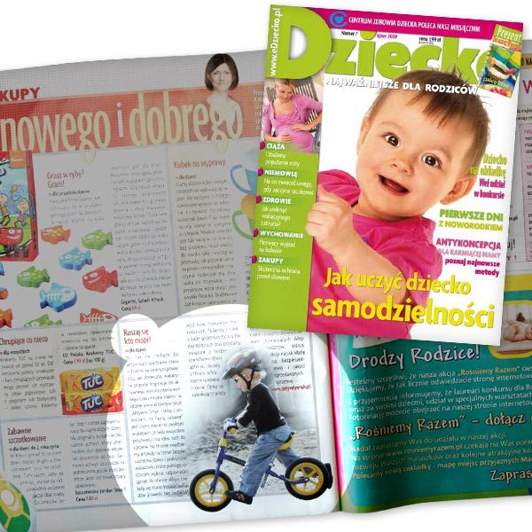 Dziecko nr 7 lipiec 2009 | Zakupy - co nowego i dobrego - proponuje Katarzyna Gliwińska (strona 78)