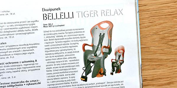 Bellelli Tiger Relax w magazynie rowerowym BikeBoard nr 7 lipiec 2009