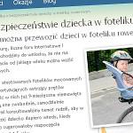 Bezpieczeństwo dziecka w foteliku rowerowym