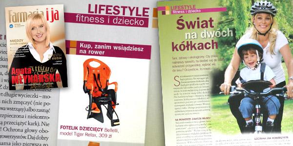 """Artykuł """"Świat na dwóch kółkach"""" - miesięcznik Farmacja i ja, wrzesień 2009"""