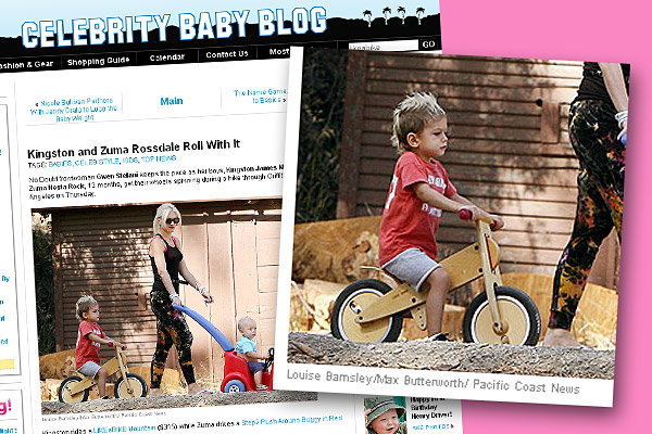 "Celebrity Baby Blog ""Kingston and Zuma Rossdale Roll With It"""