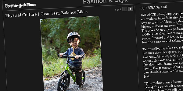 Physical Culture | Gear Test, Balance Bikes By YISHANE LEE