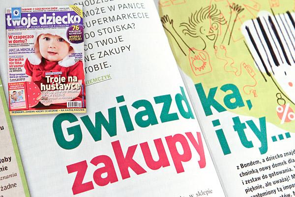 """""""Gwiazdka, zakupy i ty..."""" Twoje dziecko nr 12 grudzień 2009"""