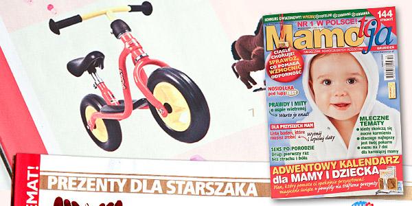 """Puky LR M """"Prezent dla starszaka"""" Mamo to ja nr 12 grudzień 2009"""