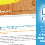 Najlepsze blogi firmowe w Polsce w 2009 roku