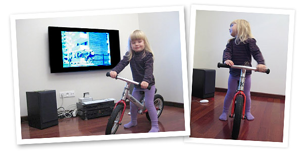Hania i jej rowerek biegowy LIKEaBIKE Jumper