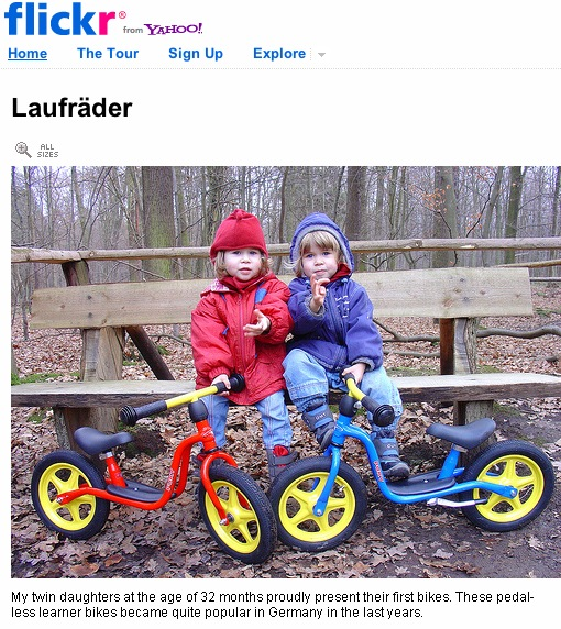 Laufräder uploaded into Flickr by Randonneur