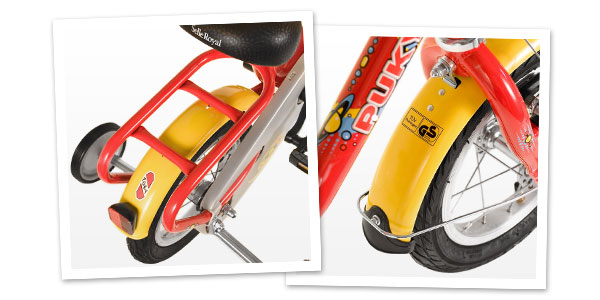 Błotniki i bagażnik w rowerku Puky Z2