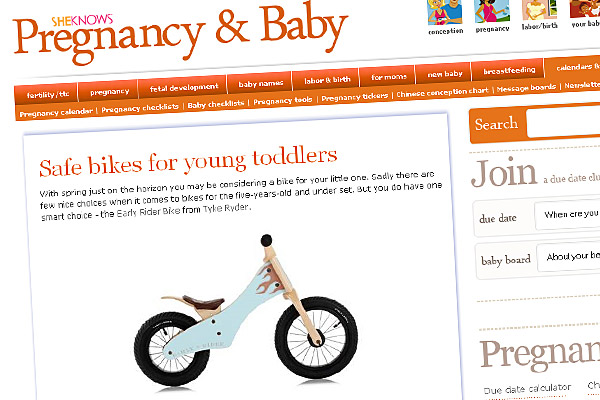 Safe bikes for young toddlers