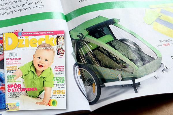 """""""Rower? To nas kręci!"""" tekst: Katarzyna Gliwińska; źródło: miesięcznik Dziecko nr 6"""